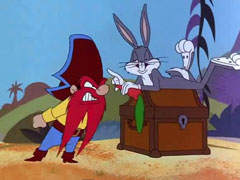 From hare to - Bugs bunny pirate ...