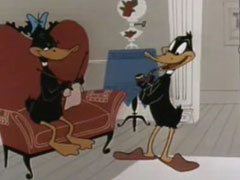 Daffy Duck - Stork Naked