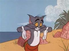 Tom & Jerry - Surf-Bored Cat